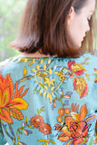 MADRID - Gauzy Fall Floral Tunic with Hand Stitched Accents