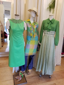 Green beaded shift dress