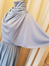 Load image into Gallery viewer, Blue cowl neck maxi dress