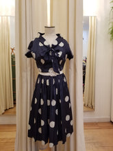 Load image into Gallery viewer, Jeane Scott 50s polka dot dress