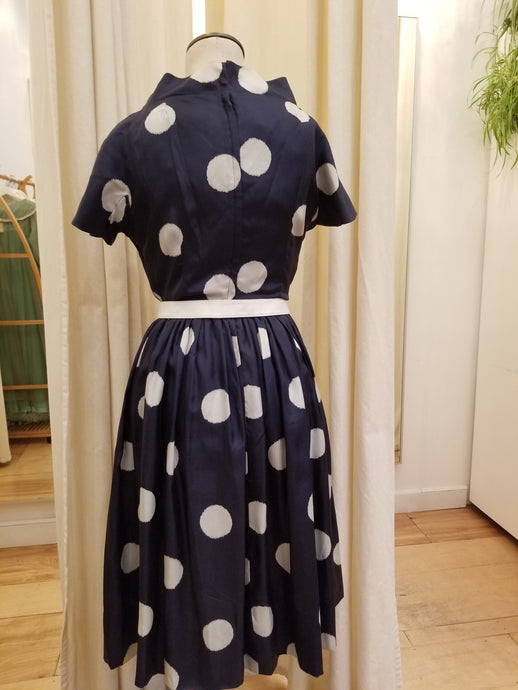 Jeane Scott 50s polka dot dress