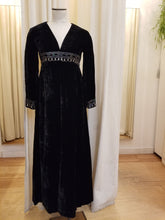Load image into Gallery viewer, Roger Milot Velvet Maxi Dress
