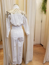 Load image into Gallery viewer, 80's Lillie Rubin White Denim Jumpsuit