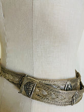 Load image into Gallery viewer, Vintage Woven metal and Precious Stone Belt