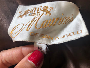 Vintage Maurice's of San Angelo Leather 2 Pc Set