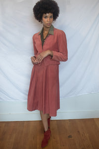 Corduroy Skirt Suit