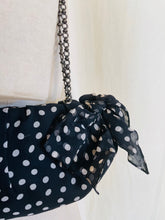 Load image into Gallery viewer, 1990's Christian Louboutin  Bow + Silk Polka Dot Shoulder Bag