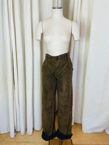 1990's Dolce and Gabbana Wool and Suede Fisherman Pants