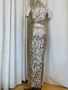 1990's Donna Karen Sequin Two Piece