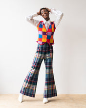 Load image into Gallery viewer, Wardrobe Maker Plaid Bell Bottom Pants