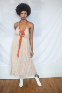Hitherto Pink Tribal Gown