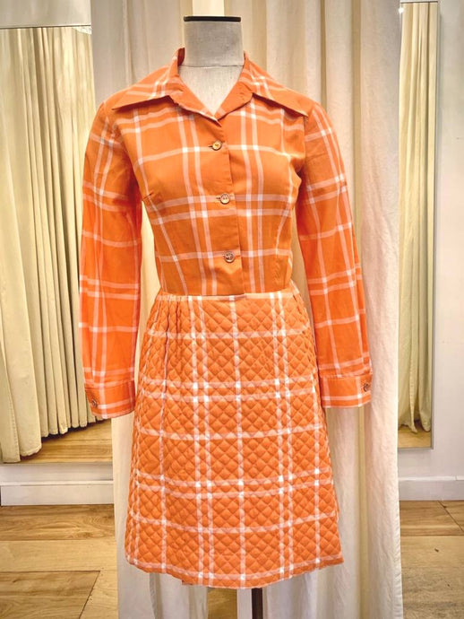 Vintage Serbin quilted dress