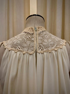 Ivory  vintage handkerchief dress