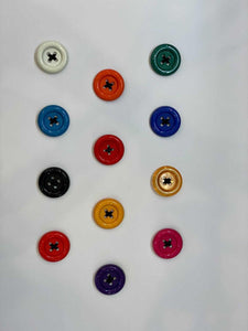 Patrick Kelly Vintage oversized button brooches