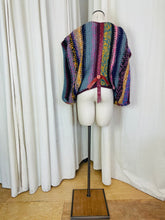 Load image into Gallery viewer, Jeff Banks Button and Wool Poncho Top
