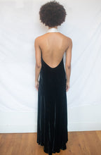 Load image into Gallery viewer, Velour Halter Dress