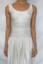Load image into Gallery viewer, Vintage White Rhinestone Embellished Gown