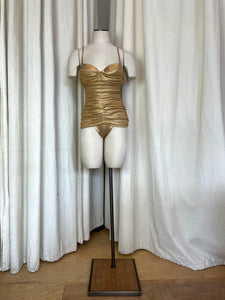1990's Gianfranco Ferre Gold Metallic One Piece Suit