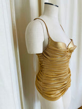 Load image into Gallery viewer, 1990's Gianfranco Ferre Gold Metallic One Piece Suit