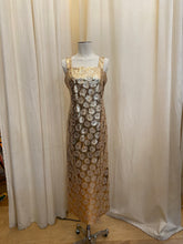 Load image into Gallery viewer, Vintage hand made Gold lame Dress
