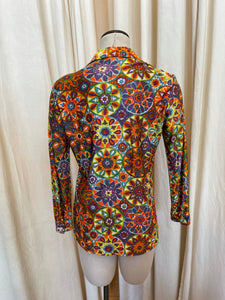 70s Collared Button Up Top