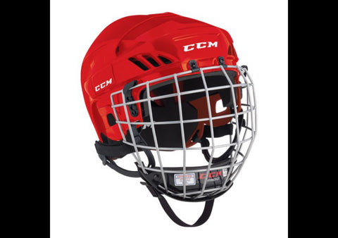 Casque Hockey CCM HT50 Combo Rouge Small