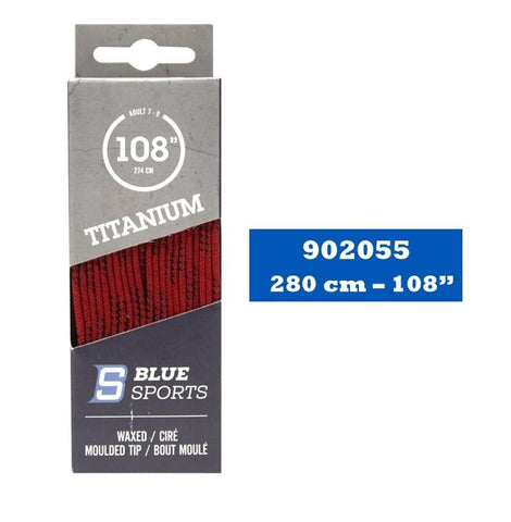 Lacets Hockey Titanium Rouge Cirés 108''