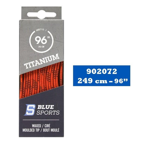Lacets Hockey Titanium Orange Cirés 96''
