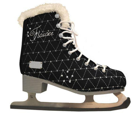 Patin Softmax Flower/Fourrure Noir gr.7