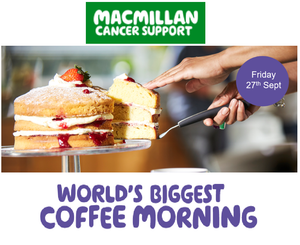World's Biggest Coffee Morning - Guest of Honour William Fox-Pitt