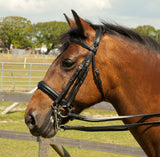 Heritage English Leather Double Comfort Bridle - 4Pony.com