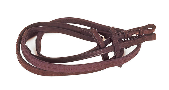 Heritage English Leather Rubber Covered Reins - Child's Length - 4Pony.com