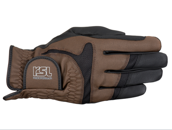 RSL Rotterdam TOUCH Riding Glove - Black/Brown - 4Pony.com