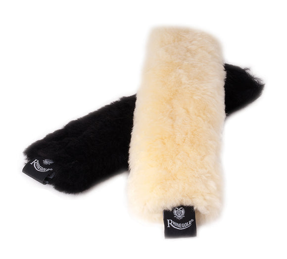 Rhinegold Real Sheepskin Noseband Cover - 4Pony.com