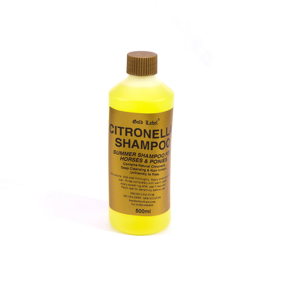 Gold Label Shampoo Citronella 500ml - 4Pony.com