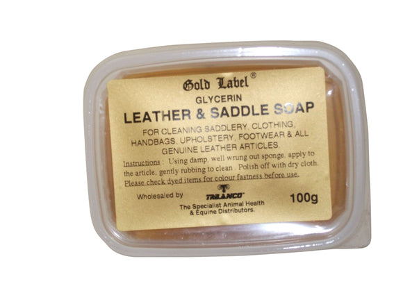 Gold Label Glycerin Leather & Saddle Soap - 4Pony.com