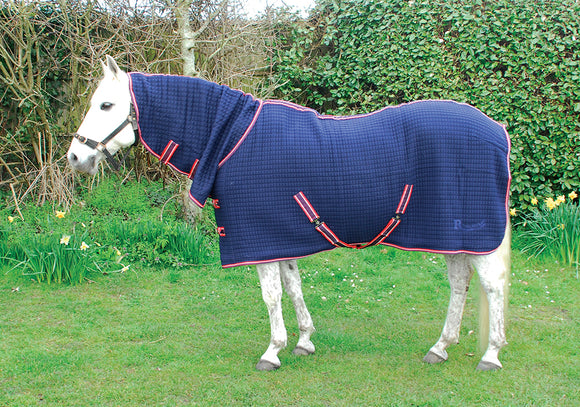 Rhinegold Full Neck Celltex Rug - Navy - 4Pony.com