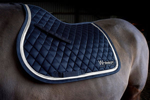 Whitaker Saddle Pad Thornton Navy/Silver - 4Pony.com