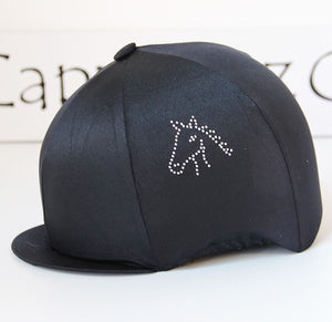 Capz Diamondz Cap Cover Lycra Horse Head