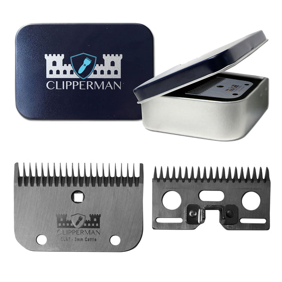 Clipperman CLA7 High Quality Steel Blade Set - 4Pony.com