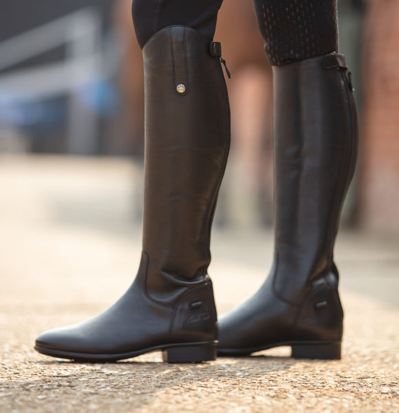 Mark Todd Leather Riding Boots Short Black