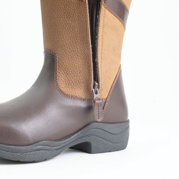 Mark Todd Waterproof Tall Zip Boot Brown