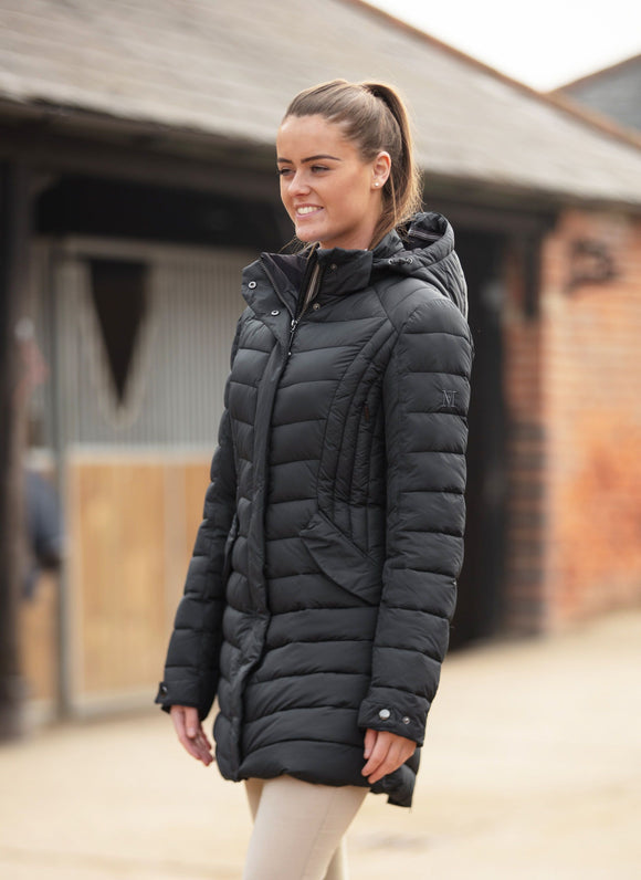 Mark Todd Ladies 3/4 Quilted Jacket Black