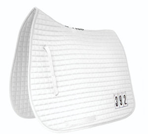 Mark Todd Dressage Pad with Competition Numbers White