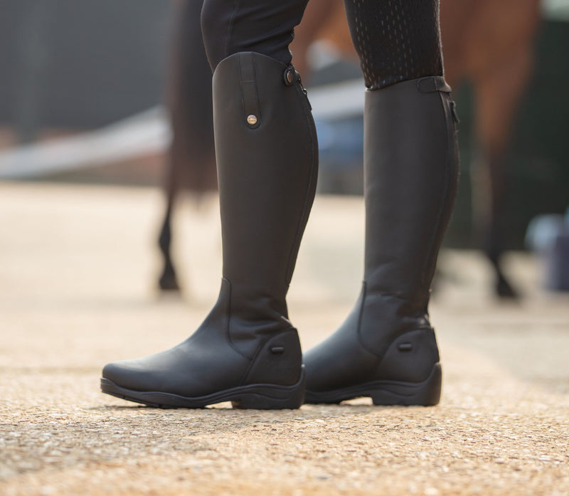 Mark Todd Fleece Lined Tall Winter Boot Black
