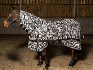 Whitaker Fly Rug Marwell Zebra Black/White