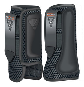 Equilibrium Tri-Zone Impact Sports Boots Front-Black - 4Pony.com