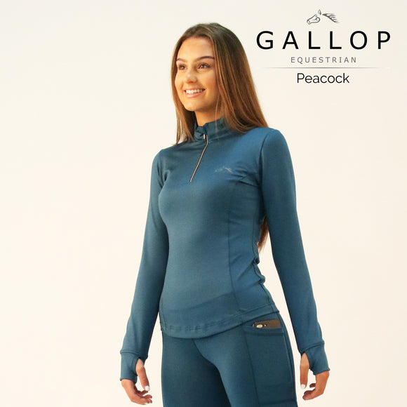 Gallop - Long Sleeve Zipped Neck Base Layer