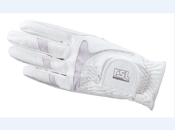 RSL Rotterdam Riding Glove - White - 4Pony.com