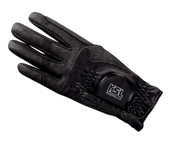 RSL Rotterdam Riding Glove - Black - 4Pony.com